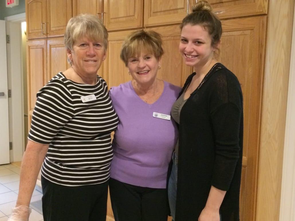 volunteers Betsy Cathy McKayla