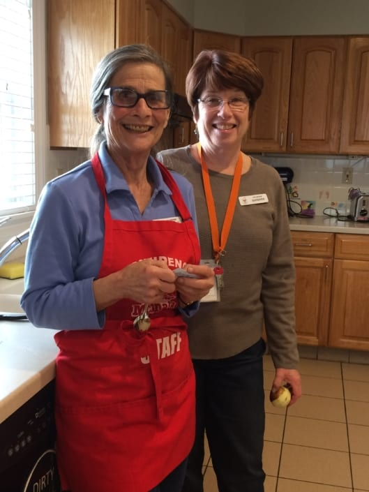 volunteers Phyllis Barbara