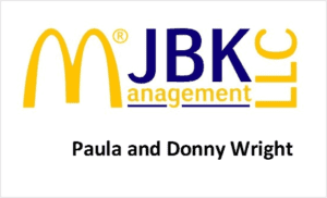 JBK Management LLC Paula and Donny Wright